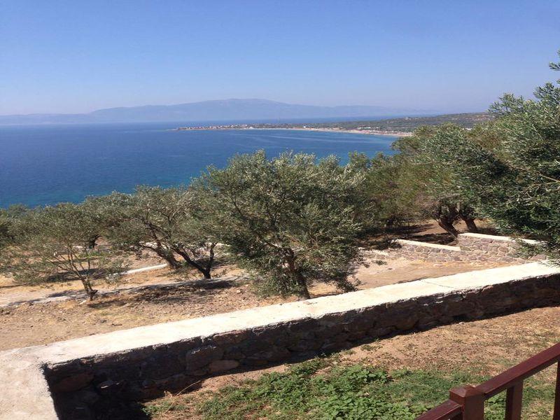 Çanakkale Ayvacık Büyükhusun/Satılık Manzaralı Taş Ev