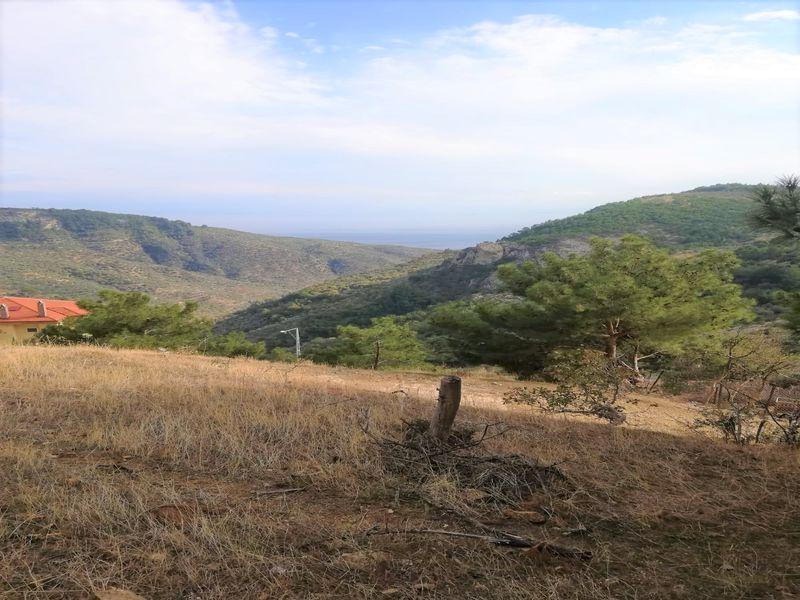 Çanakkale Ayvacık Arıklı/Satılık Deniz Ve Dağ Manzaralı İmarlı Bahçe